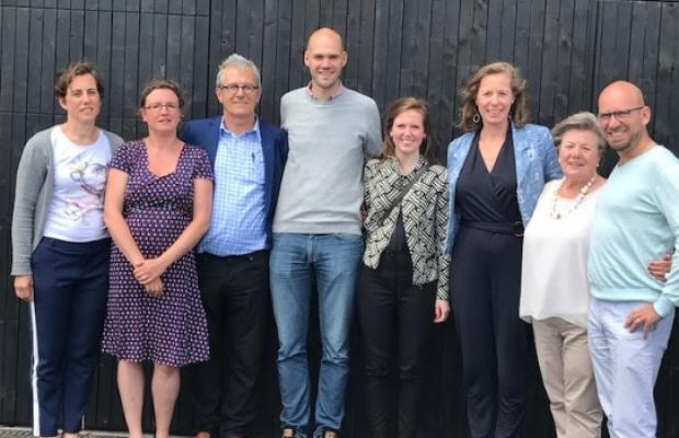 oplevering Gasim Gent: Bouwheren, architect en Voordenkers Leen en Dirk